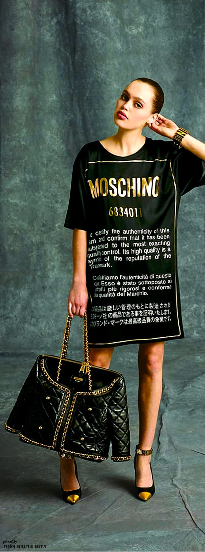 Moschino Pre-Fall 2014 http://www.vogue.com/fashion-week/pre-fall-2014/moschino/runway/#/collection/runway/pre-fall-2014/moschino/32 | The House of Beccaria