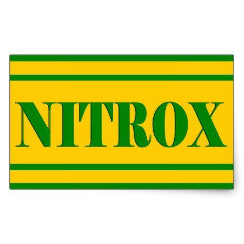 NITROX DIVING LOGO NITROX SCUBA DIVER - RECTANGULAR STICKER