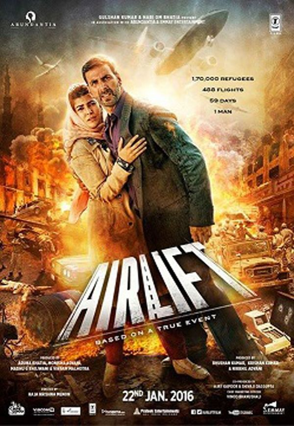 #AirLift #Film release - Stars #AkshayKumar and #NimratKaur which directed by Raja Krishna Menon.