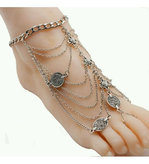 Shop online for Antique Silver Anklet Fashion Coin Tassel Leg Bracelet For Women at 54% off in India at Kraftly.com, Shop From 2Stop Store  Hot Picks Quality Products , ANSIAN41280MAD212785, Easy Returns. Pan India. Affordable Prices. Shipping. Cash on Delivery.
