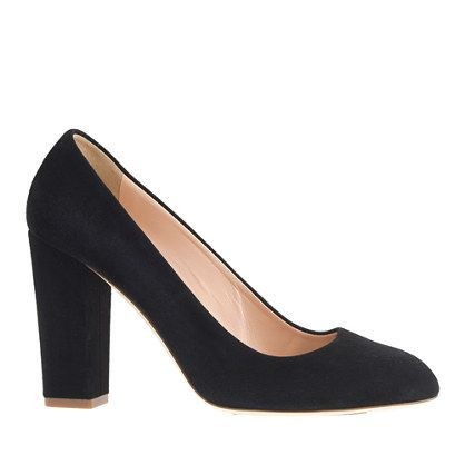 "Our Stella pumps are Italian-made with a chunky heel and a just-right (read: walkable) height. Sophisticated, meet sexy. <ul><li>3 3/4"" heel.</li><li>Suede upper.</li><li>Leather lining and sole.</li><li>Made in Italy.</li></ul>"