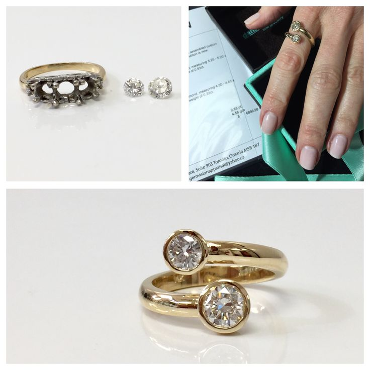 Another sentimental heirloom piece transformed into a beautiful modern ring she can wear every day! #LUCKYGIRL