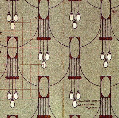 design for fabric by otto prutscher 1905