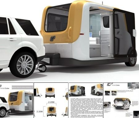 Hotel Cube concept. How cool would it be to be able to hitch this to your #tundra and go camping?