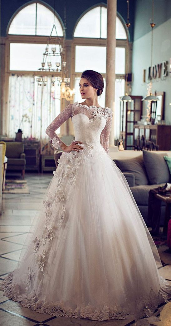 Gorgueous Ball Gown Wedding Dresses lace