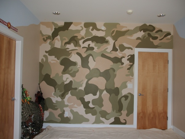 Military themed kids room my daughter wanted to have a for Army themed bedroom ideas