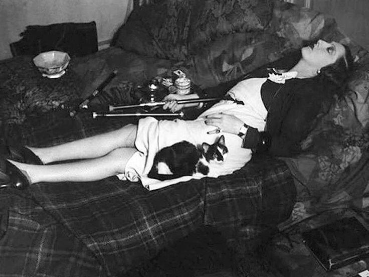 "France. Paris, 1931 ""Woman in opium den with cat"" // by George Brassaï"