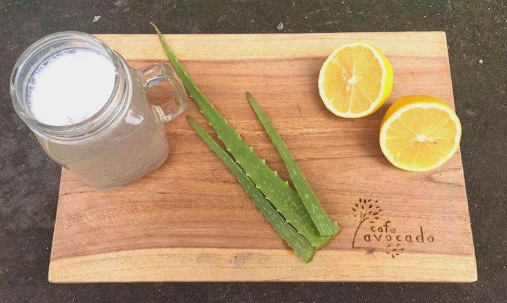 Homemade Aloe Vera juice at Avocado Cafe Bali