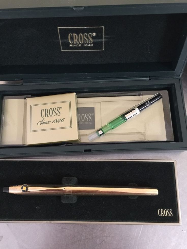 Vintage Cross Pen Cartridges Included Gold Chase Bank Logo Fountain Pen | eBay