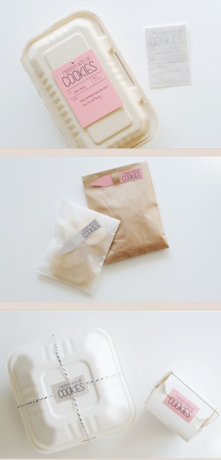 I'm craving delicious cookies.  Who wouldn't love to receive cookies packaged like so?  Perfect!