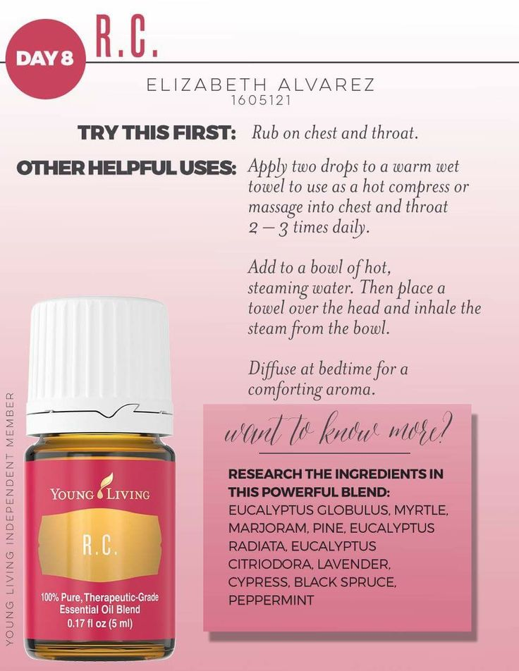 Day 8 - R.C. * we use this oil for help during allergy season! www.myyl.com/theoilyjourney