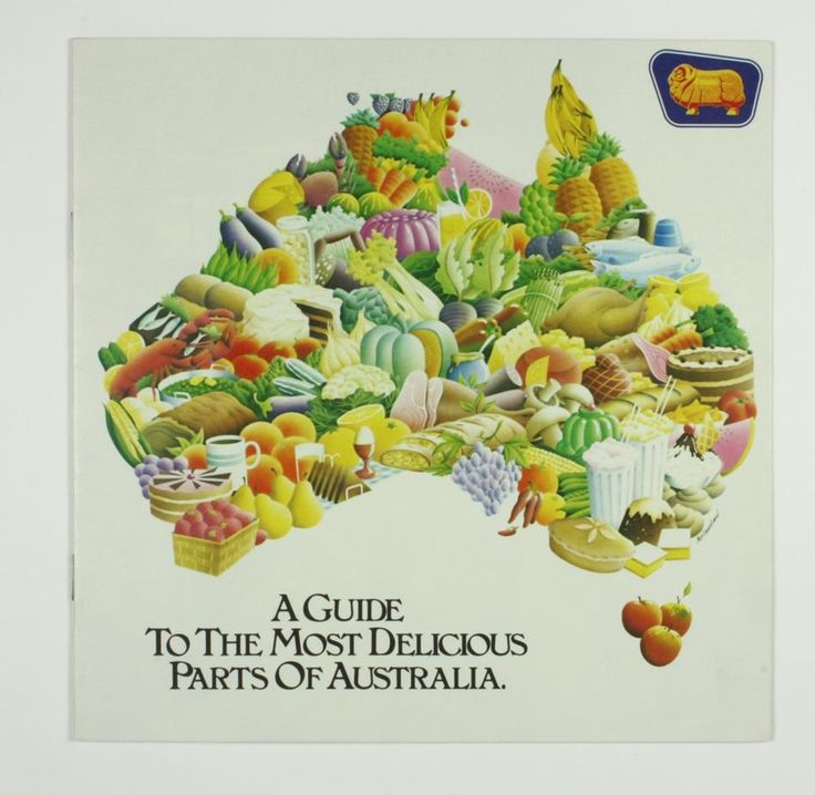 Golden Fleece service station restaurant directory for Australia, titled 'A Guide to the Most Delicious Parts of Australia', circa 1980s.