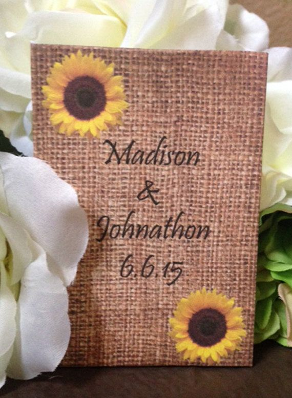 50 Sunflower Wedding Favors Sunflowers Seed By FavorUniverse