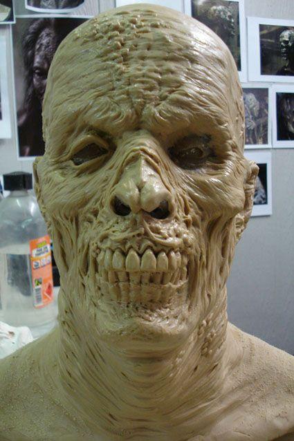 zombie head prosthetic by leighmarsh on deviantART