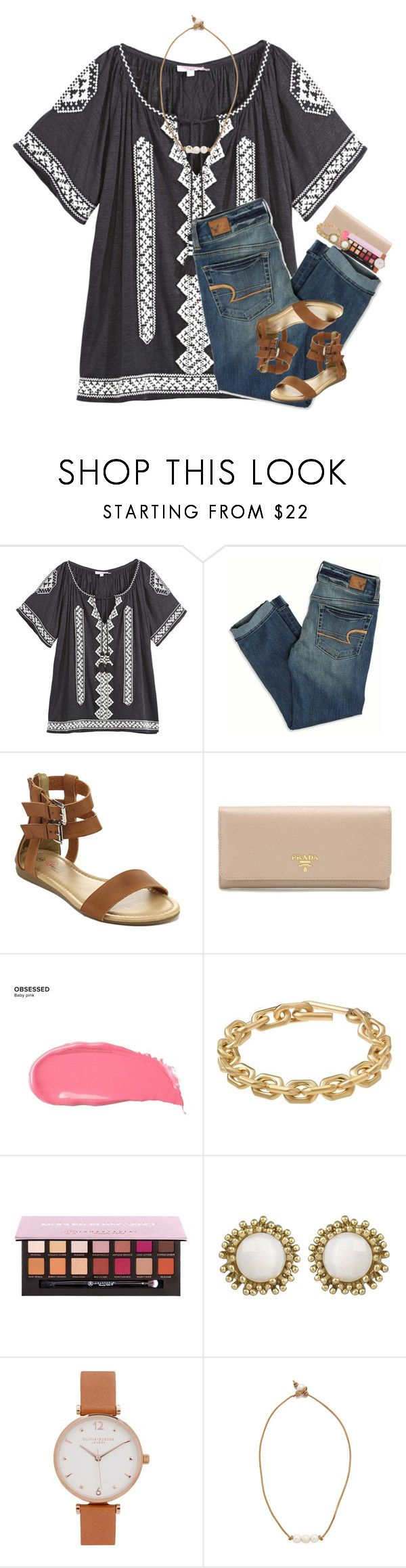 """""""is it possible to get 2k by Christmas? pretty please with a cherry on top?"""" by evieleet ❤ liked on Polyvore featuring Calypso St. Barth, American Eagle Outfitters, Prada, Urban Decay, Calvin Klein, Anastasia Beverly Hills, Kendra Scott, Olivia Burton and Lead"""