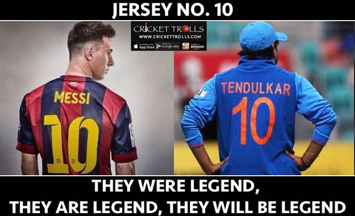 Lionel Messi & Sachin Tendulkar  Need Haters! Sorry 404 Error found :P - http://ift.tt/1ZZ3e4d