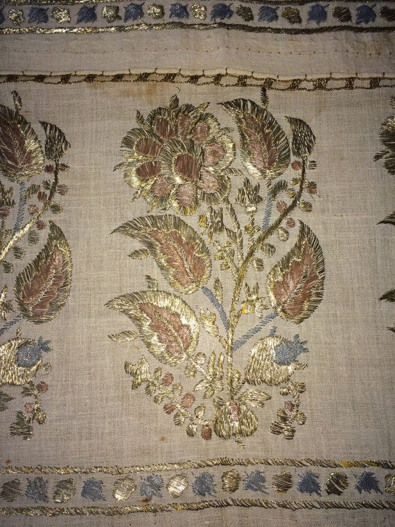This is a beautiful example of Ottoman-Turkish embroidered yaglık / napkin .  It is 115cm in length and 51cm in width. The height of