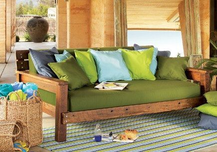 Barnwood Futon Day Bed by LivingSimplistically on Etsy, $750.00