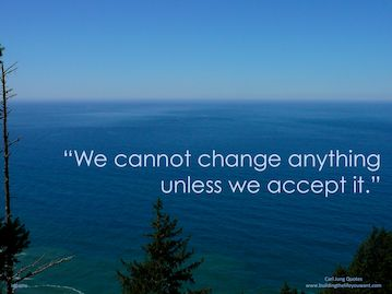 """We cannot change anything unless we accept it."" ~Carl Jung"