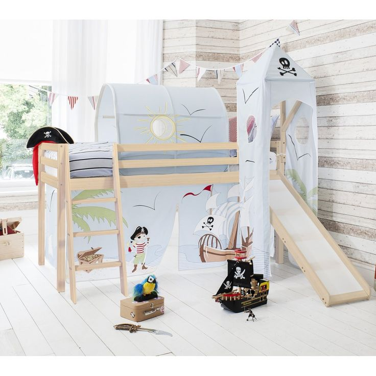 Pirate Pete Cabin Bed with Slide, Tent, Tower & Tunnel | Noa & Nani