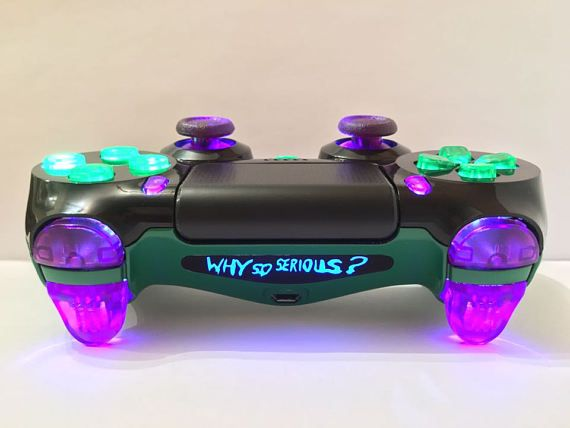 PS4 Custom Controller/Gamepad-JOKER Why So Serious SE