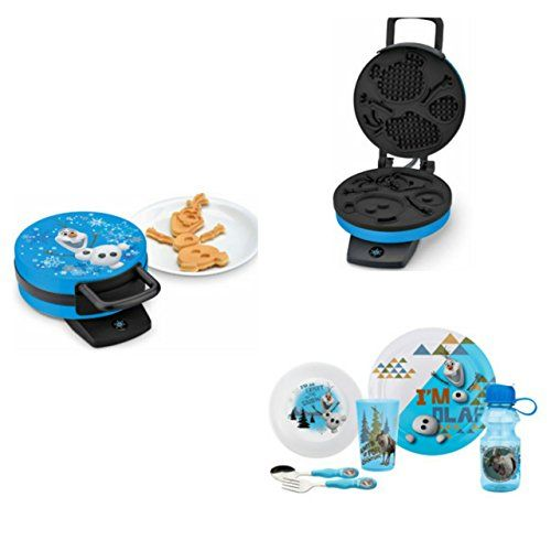 Disney Frozen Olaf the Snowman Childrens Breakfast Set with Waffle Maker and Meal Time Utensils Set @ niftywarehouse.com #NiftyWarehouse #Disney #DisneyMovies #Animated #Film #DisneyFilms #DisneyCartoons #Kids #Cartoons