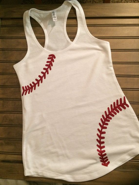 Baseball stiched Tank I need this in an Addie Kate size. Maybe monogrammed?