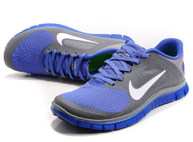 Cool Grey White Violet Force Nike Free 4.0 V3 Women's Running Shoes #Grey  #Womens