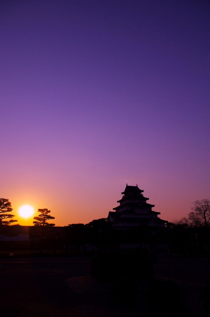 Tsuruga Castle in Fukushima, Japan by Teto on PHOTOHITO Visit japan-marche.com to find traditional and designed, quality Japanese items. Great for gifts / presents!