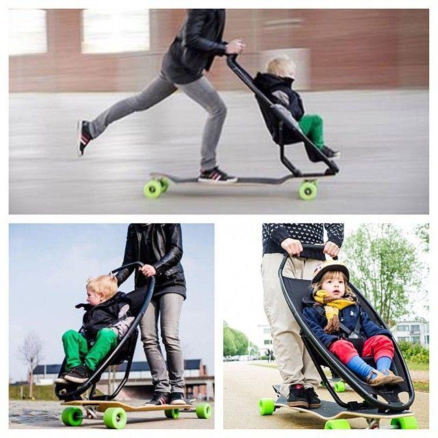 Longboardstroller Für Urban Mobility   Designstudie Von DOREL   Longboard +  Quinny Zapp Leider Noch Nicht