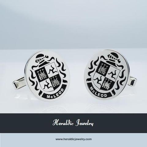 McLeod family crest cufflinks