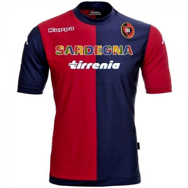 Cagliari Calcio home soccer jersey 2013/14 - Kappa - SportingPlus ...