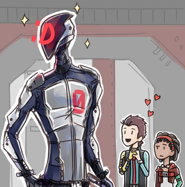 A quick sketch of one of my favourite scenes from TFTB  Tales was my first experience with the Borderlands universe, so my reaction to Zero was basically the same as Rhys's. Uncontrollable fa...