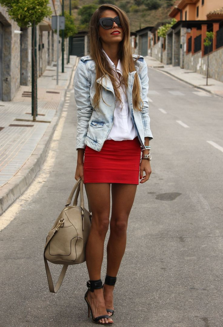 Zarazara  Jackets, Pull & Bearpull-bear  Skirts and Mangomango  Heels / Wedges