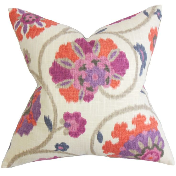 Tarian Floral Throw Pillow Cover