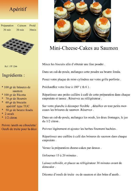 Mini-Cheese-Cakes au Saumon