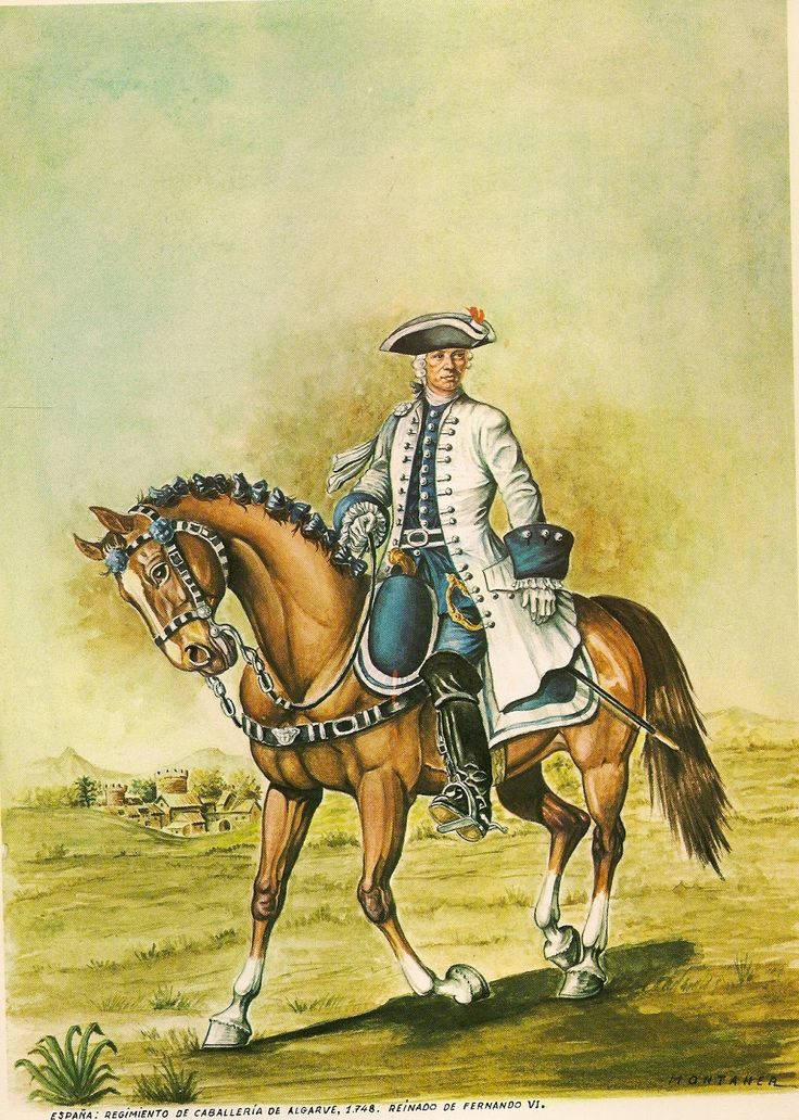 Spanish Cavalry Regiment Algarve 1748