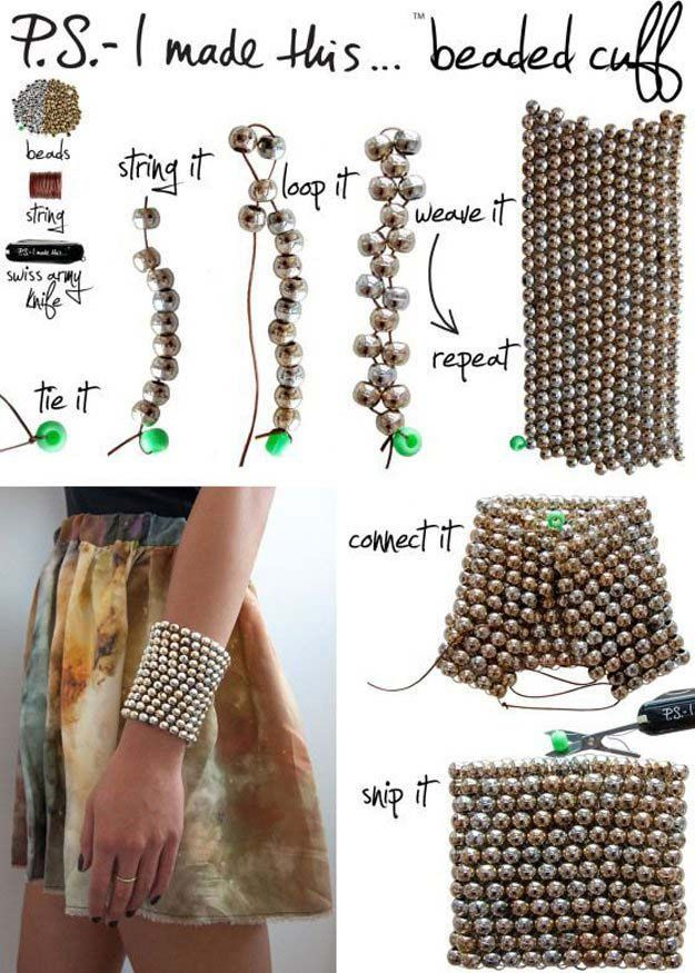 DIY Beaded Cuff Bracelet | DIY Beaded Bracelets You Bead Crafts Lovers Should Be Making