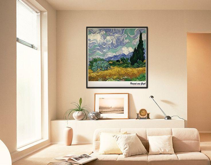 Vincent Van Gogh,고흐:Wheatfield with Cypresses,삼나무가 있는 밀밭 _bigframe/Interior piece/frame decoration/액자인테리어/빅프레임