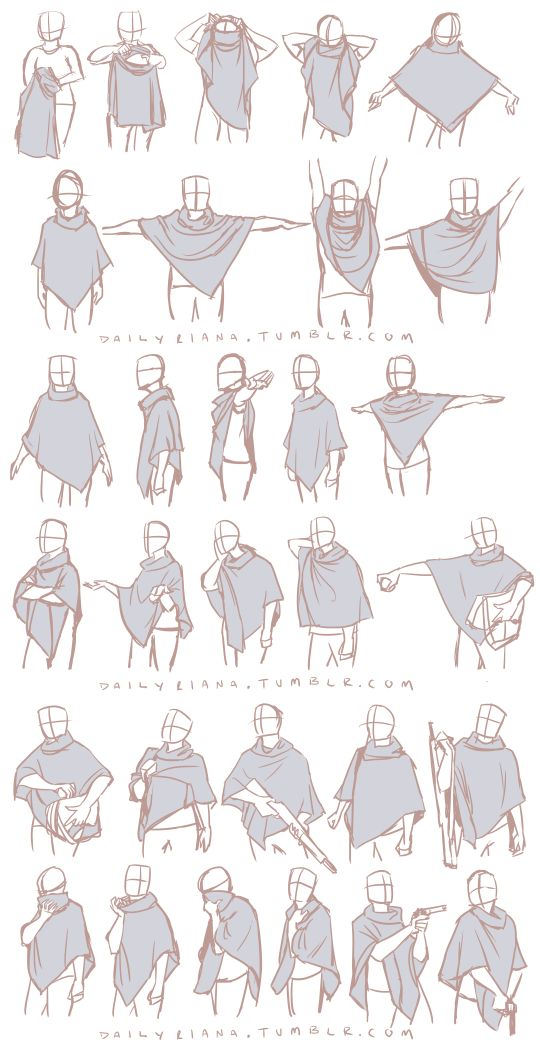 Art reference for drawing clothing (clothes) wrinkles and drapery // dailyriana…