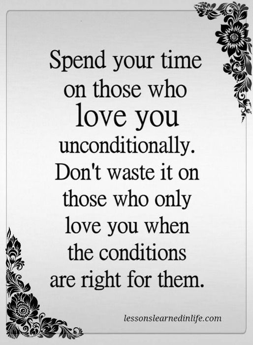 Lessons Learned In Life   Love You Uncondionally.
