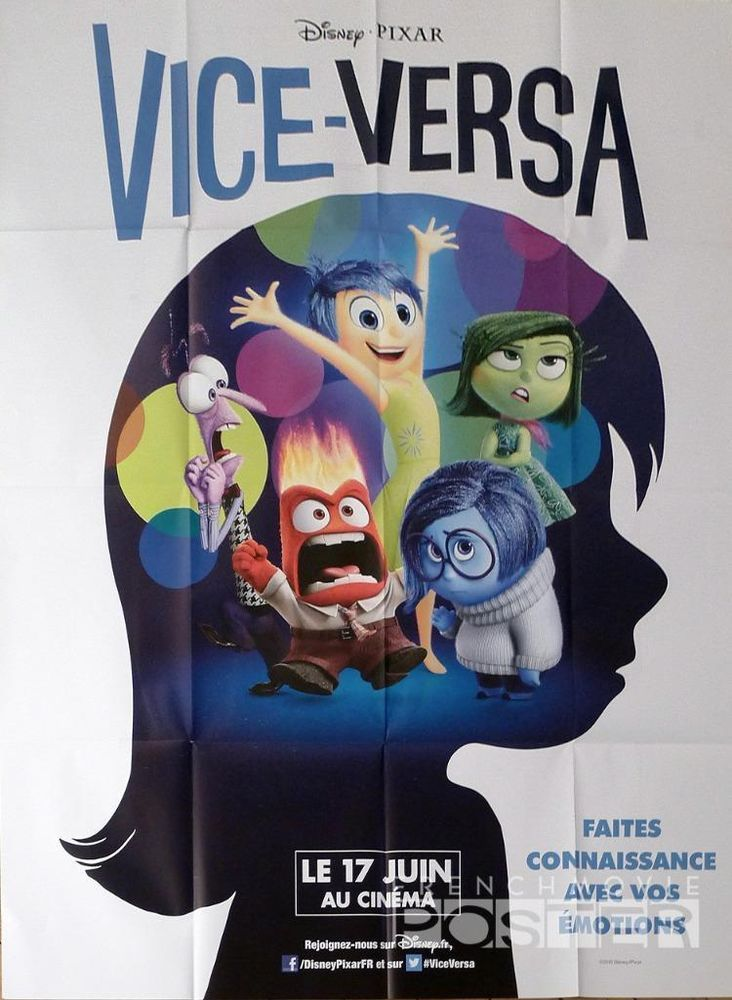 INSIDE OUT - PIXAR / DISNEY - ORIGINAL LARGE FRENCH MOVIE ...