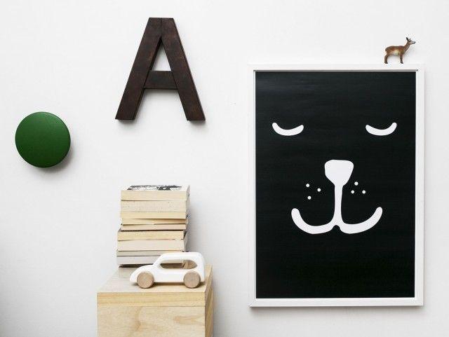 10 meilleures id es propos de affiche noir et blanc sur - Chambre enfant noir et blanc ...
