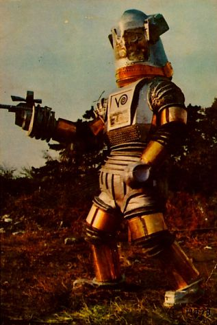 """Not many people remember this but the Clarence-10D here was the first """"Robocop"""". Sadly it was a failed experiment as it was discovered it/he was on the take and had a real motor oil drinking problem."""