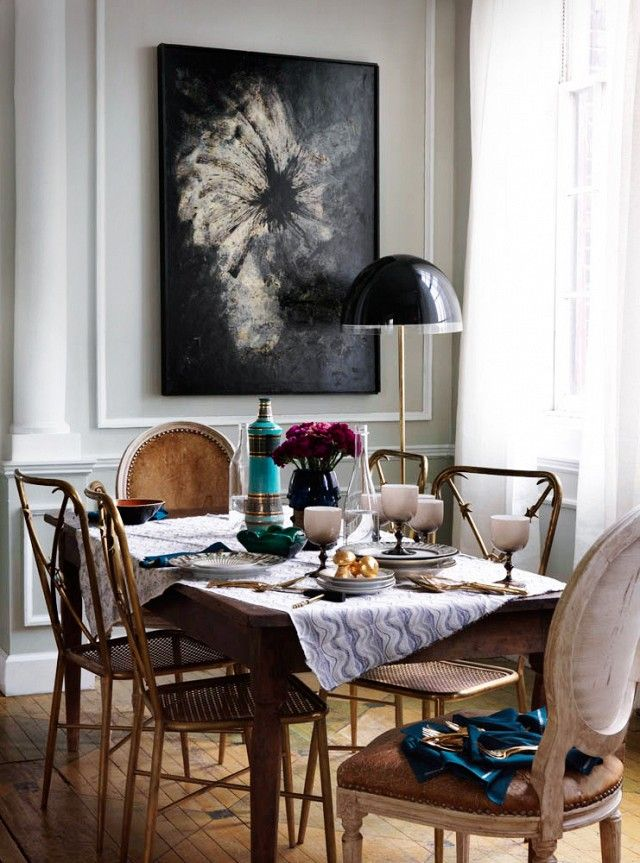 15 Fall Entertaining Essentials Mixed Dining ChairsDining