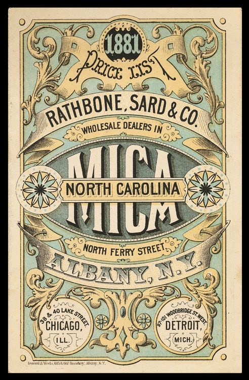 Rathbone, Sard & Company / North Carolina Mica | Sheaff : ephemera