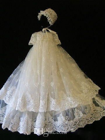 New Lace Appliqued Christening Dresses For Baby Girls 2016 With Sleeves Jewel Neck Long Pearls Baptism Dress Tulle First Communication Gowns First Communion Keepsake Box First Communion Suit From Cc_bridal, $84.43| Dhgate.Com