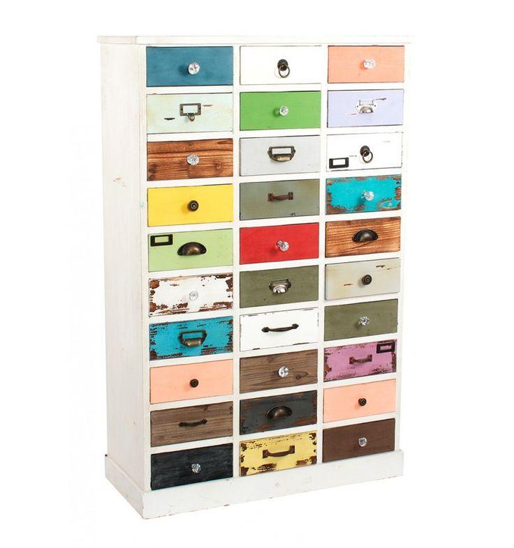 Cajonera estilo industrial colores 30 cajones colecci n for Cajonera estilo industrial