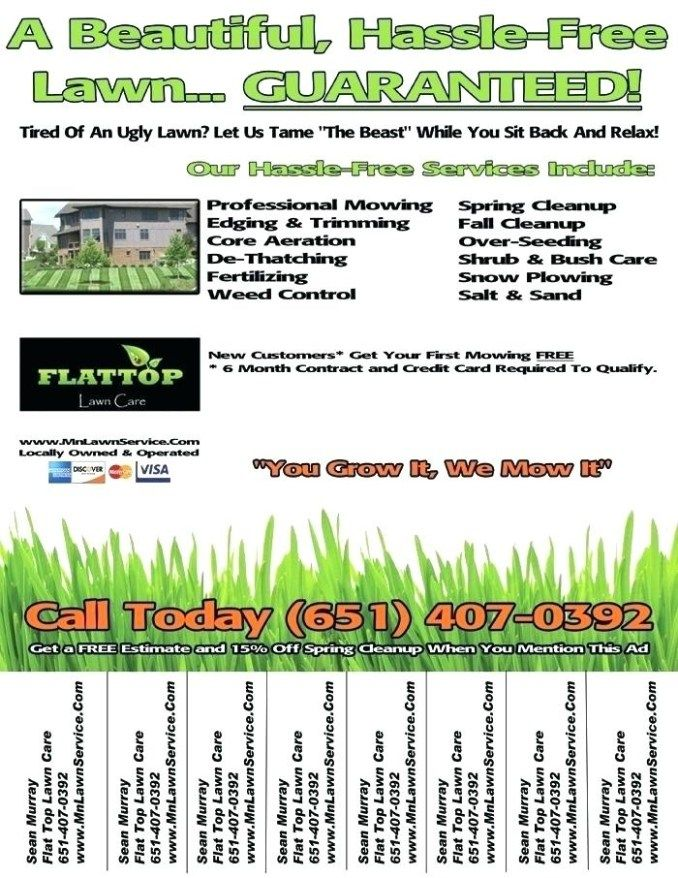 Landscaping Flyer Template Lawn Mowing Flyers Examples Lawn Care Flyers Lawn Care Business Lawn Mowing Business