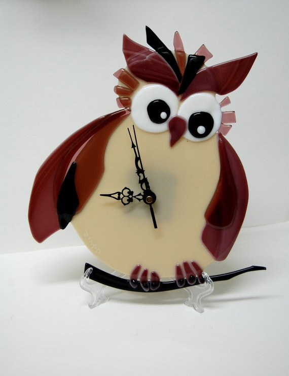 154 best Fused Glass clocks images on Pinterest Fused glass